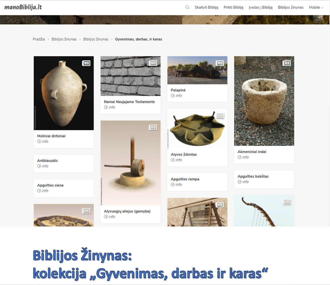 Biblijos žinynas - viena iš kolekcijų